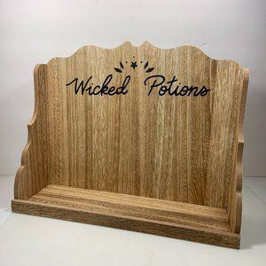 Wicked Potions Halloween Wood Shelf Decor